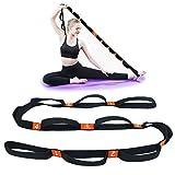 5BILLION Correa Yoga & Stretch Strap - Ancho de 4cm - Yoga Strap para Yoga Caliente, Terapia Física, Mayor Flexibilidad & Aptitud - Múltiples Lazos de Agarre (Naranja)