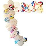 Elecrainbow 62 Pieces Rose Gold & Multi-color Agate Balloons Arch Garland Kit for Baby Shower, Engagements, Wedding, Graduation, Anniversary Organic Party Decorations, Glue Dots and Balloon Strip Incl