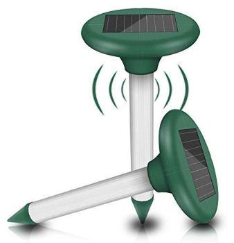 Répulsif Taupe Solaire à UltrasonLot de 2, Solaire Souris Repeller, Anti Repousser Taupes Serpents - Pelouse, Ferme(Green)