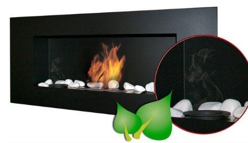 Bio-Ethanol Bio-Fireplace 90 x 40 cm, Aromatherapy Kit and Decorative Stones