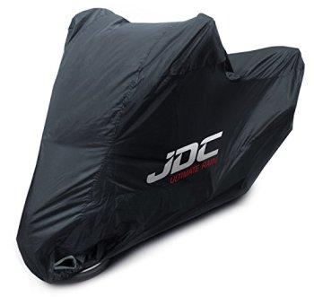 JDC Funda Moto 100% Impermeable - Ultimate Rain (Resistente, Forro Suave, Paneles Resistentes al Calor, Costuras Selladas) - L