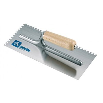 Ausonia - 42032 Taloche pour colle 28 x 12 manche bois dentelè 7,5 x 7,5