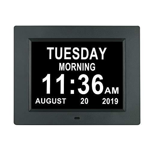 [Newest Version] Digital Day Calendar Clock Auto Dimming 3...