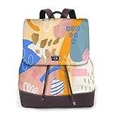 Yuanmeiju Womens Mochila de Cuero Stylish Sugar Skull Lily Eyes Shoulder Bookbag Laptop Bag Girls