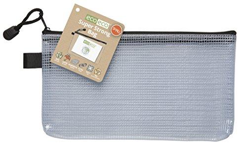 eco-eco Small 95% Riciclata Super Chiaro Trasparente Forte Sacchetto Nero con Zip