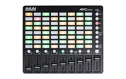 AKAI Professional APC Mini - Controller MIDI USB con 64 Pad RGB, 9 Fader e Ableton Live Lite, Hybrid 3, Pacchetto di Samples e Loop, Campioni Capsun ProAudio