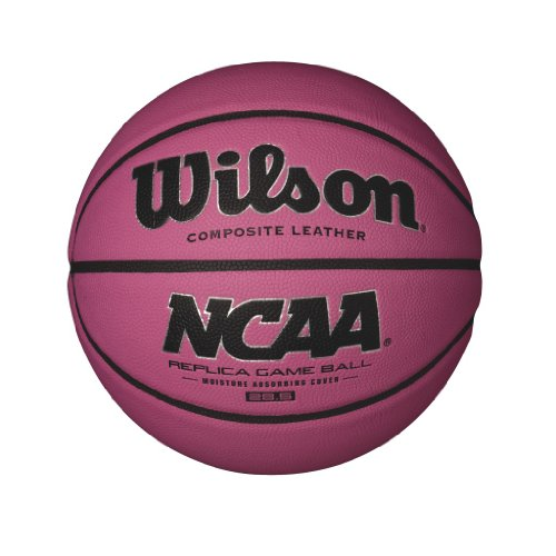 Wilson NCAA Replica Game Basketball, Pink, 28.5-Inch