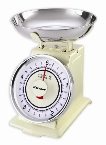 Karcher 130130 WAK 811 Bilancia da cucina meccanica rétro color magnolia