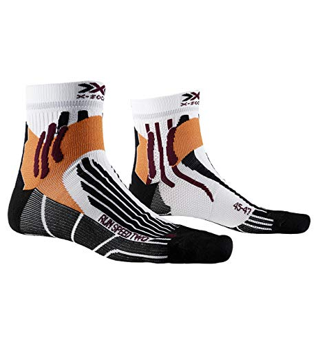X-Socks Run Speed Two Socks, Unisex Adulto, Arctic White/Opal Black, 42-44