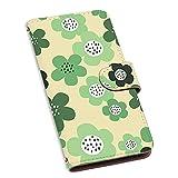 スマホケース 手帳型 カードタイプ らくらくスマートフォン F-42A 用 [北欧花柄・グリーン] 北……