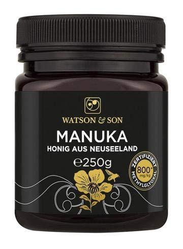 Watson & Son Manuka Honig MGO 800+ 250g   Premium Qualität aus Neuseeland