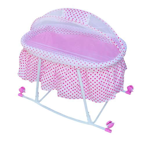 eHomekart Baby Bassinet Cradle - Includes Gentle Rocking Feature - Great for Newborns and Infants -...