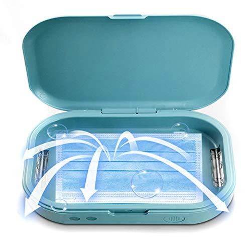 Leyeet Disinfettante UV Scatola Sterilizzatore Portatile per Telefono Cellulare a Luce Ultravioletta con Funzione Aromaterapia per Maschera Cellulare Chiavi Gioielli Puliti