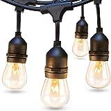 addlon 48 FT Outdoor String Lights Commercial Grade Weatherproof...