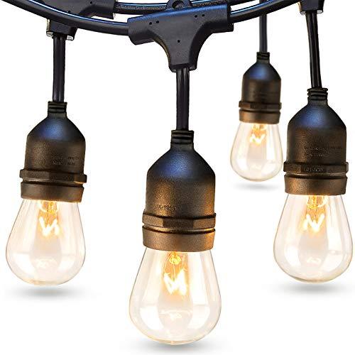 addlon 48 FT Outdoor String Lights Commercial Grade Weatherproof