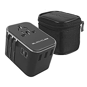 🔌【𝗔𝗟𝗟-𝗜𝗡-𝗢𝗡𝗘 𝗨𝗡𝗜𝗩𝗘𝗥𝗦𝗔𝗟 𝗧𝗥𝗔𝗩𝗘𝗟 𝗔𝗗𝗔𝗣𝗧𝗘𝗥】 Travel Power Adapter covers over 150+ countries with US/EU/UK/AUS plugs and Powerful 3 USB Ports plus World's First 35W Dual USB Type C. Universal in Asia, Australia, New Zealand, Argentina, USA, Canada, Japan, ...