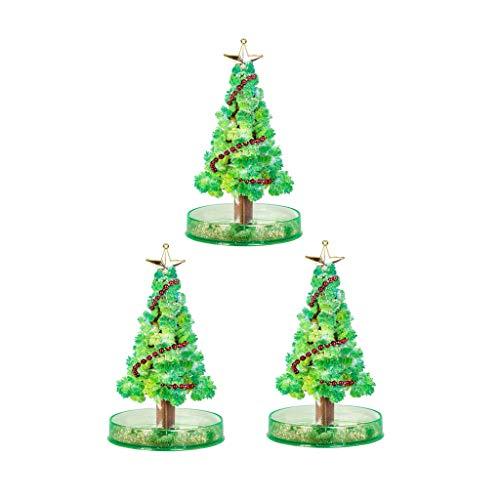 Mizily 3 Stück Weihnachtsdekoration, Magisch Wachsender Weihnachtsbaum