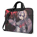 XCNGG Fate Stay Night Anime Laptop Hombro Messenger Bag Tablet Computadora Almacenamiento Mochila Bolso 14 Pulgadas