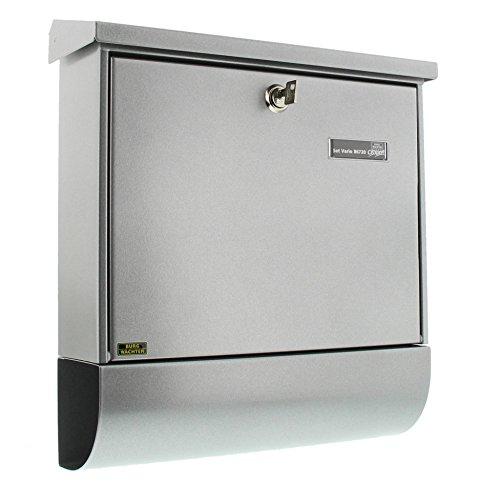 BURG-WÄCHTER Set Vario 86720 Si Briefkasten-Set mit Zeitungsbox A4 Einwurf-Format, Verzinkter Stahl, Set Vario Si, Silber