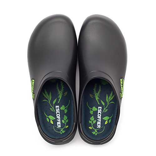Product Image 3: ESCOFFIER Waterproof Slip Resistant Kitchen Chef Clog - Non Slip Work Mule Shoes for Men Women, Black, 11 Women/9 Men