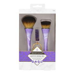 EcoTools Rose Quartz Crystal Trio Makeup Brush Set, Green (Set of 3) 20