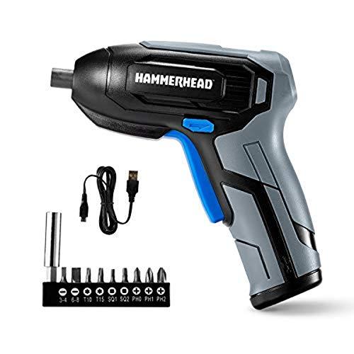 Hammerhead Rechargeable 4V Cordless Screwdriver with 9pcs Bit – HCSD040