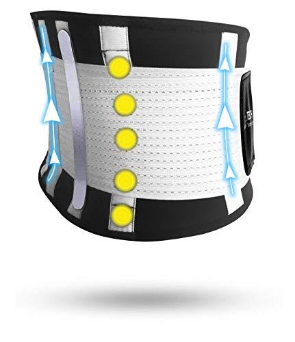 Fascia Lombare Supporto Schiena Tech Therapeutics - Cintura Lombare di Sostegno Fascia Schiena Elastica Addominale Uomo Donna Con Flessibili Stecche E Terapia Magnetica Taglia (XS - M)