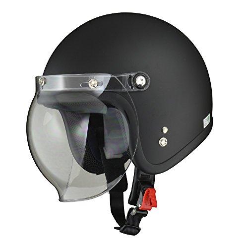 リード工業(LEAD) バイク用ジェットヘルメット MOUSSE(ムース)マットハーフブラック フリー(57-60cm未満) -