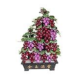 Planta Artificial para bonsi Jade bonsai gema decoracin de uva decoracin de uva oficina hogar creativo dormitorio artesana decoracin chino estilo bonsai adornos Falsas Plantas Artificiales