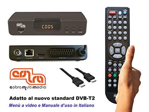 DECODER COBRA DIGITALE TERRESTRE mod. DINGO, FULL HD, PVR, DVB-T2, H.265/HEVC, MEDIAPLAYER, Cavo...