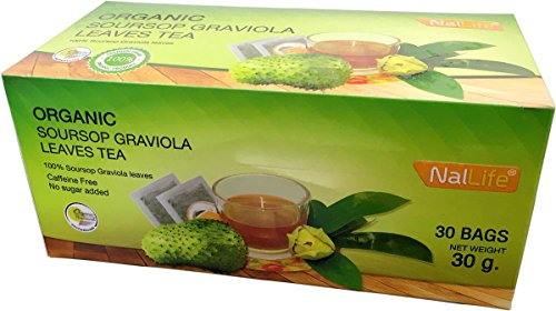 NalLife Organic Soursop Graviola Leaves Tea Pack of 30 Bags