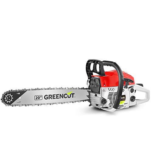 Greencut GS620X Motosega a Scoppio Benzina 62cc-3,8cv Spada 20' Leggera e Potente, 62 cc