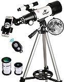 Gskyer Telescope, 70mm Aperture 400mm AZ Mount Astronomical Refracting Telescope for Kids Beginners...
