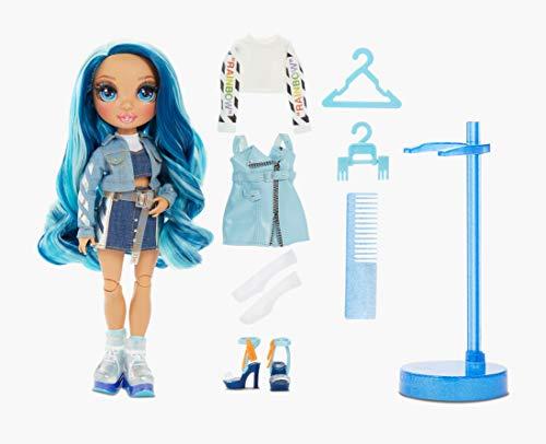 Image 6 - Rainbow High Poupée Mannequin - Skyler Bradshaw – Poupée thème bleu avec tenues luxueuses, accessoires et socle - Série 1 - Parfait pour les filles de 6 ans et plus