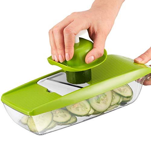 Mandolina 5 in 1 per Affettare Verdure da Twinzee - Ottima per Affettare e Sminuzzare Sottile Frutta e Verdura, in Modo Rapido ed Uniforme