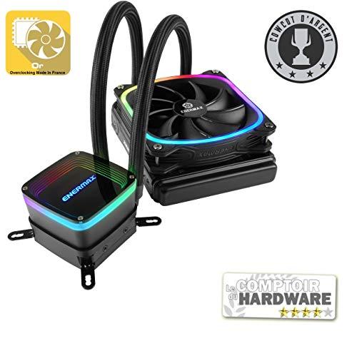 ENERMAX アドレッサブル型RGB LED水冷CPUクーラー AQUAFUSION 120mm ELC-AQF120-SQA