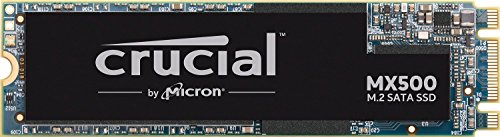 Crucial MX500 1TB CT1000MX500SSD4-bis zu 560 MB/s (3D NAND, SATA, M.2 Type 2280SS, Internes SSD), Silber