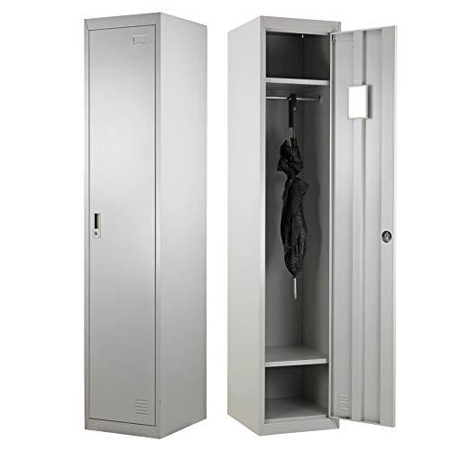 Brigros ® Armadio spogliatoio 1 anta 180 x 38 x 45 con serratura e specchietto interno (1)