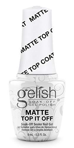 Gelish MINI Matte Top It Off Sealer Gel Top Coat LED Gel Polish, 0.3 oz.
