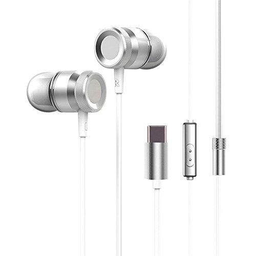 Docooler USB Type-C In-Ear Wired Metal Earphone Headset USB-