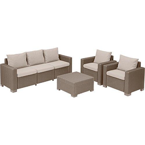 Keter California, set di mobili da giardino Allibert, 5posti