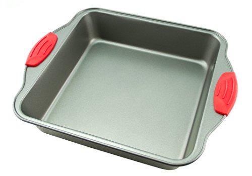 Cake Pan | Non-Stick Steel 8-Inch Square Baking Pan by Boxiki Kitchen | Durable, Convenient, Premium Quality No-Stick Baking Mold Cookware | Brownie Pan 8 x 8 x 2