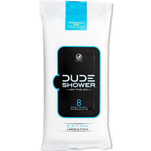 DUDE Shower Body Wipes (9 Packs, 8 Wipes...