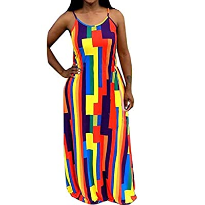 STYLE: Maxi Dresses for Women. Sleeveless Tank/Spaghetti Strap/Vintage Stripes Floral/Tie Dye Long Dress Plus Size. DESIGN: Bodycon Dresses for Women. Spaghetti Strap/Sleeveless/Long Sleeve, Solid Color/Stripe/Floral/Tie-Dye Rainbow Printed, Full Len...