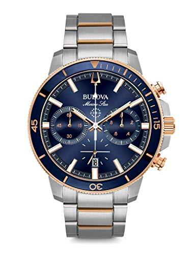Bulova Orologio Cronografo Quarzo Uomo con Cinturino in Acciaio Inox 98B301
