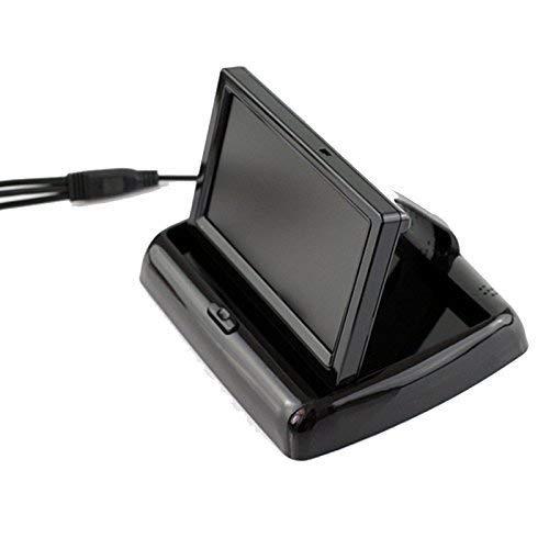 12V-24V Auto Camion 4.3 Pollici TFT Pieghevole Dash Schermo LCD Monitor Stand w / 3M Sticker 2 Canali RCA di Ingressi Video per Macchina Fotografica di Sostegno Retrovisione DVD Media Player