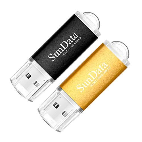 SunData 2 Pezzi 16GB Chiavetta USB Pen Drive 16GB...