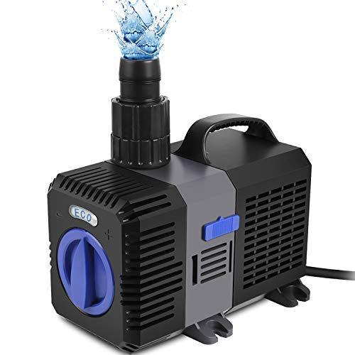 Forever Speed Super ECO Teichpumpe Filterpumpe Energiespar Wasserpumpe Koiteich Bachlaufpumpe (3000-12000L/H) 4500L/H