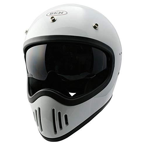 TNK工業 B-80 BEN フルフェイスヘルメット ホワイト FREEサイズ(58-59㎝) 51255