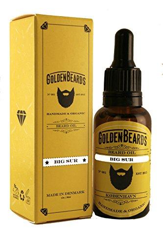 Golden Beards Olio da Barba per Uomo Big Sur - Olio Cura Barba - Cura Naturale Della Barba - 100% Naturale & Organico | Semitoni di Lime e Lavanda e Patchouli